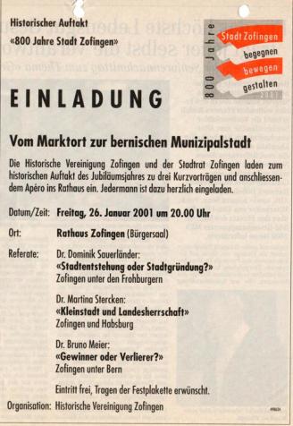 HVZ 800 Jahre Zofingen 2001